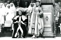 Crowning Ceremony at the 1977 Wrexham Eisteddfod