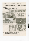 Poster advertising Abergavenny exhibition