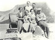Group of local people, Nant Gwrtheyrn 1930s