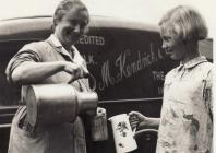 Milk delivery by van c.1947