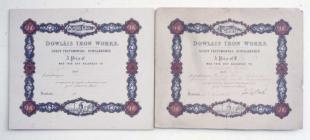 Dowlais Guest memorial certificates 1870s