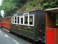 Tal-y-llyn railway - train at Abergynolwyn station