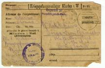 Card sent by Tom Williams while a Prisoner of War