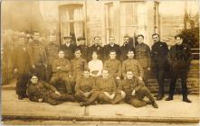 Postcard showing Bow Street soldiers, 1915