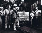 Last tram of coal at Maerdy Colliery, 1986.