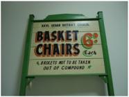Basket chair noticeboard, c.1960s