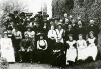 staff of the Coedmore estate taken in 1909