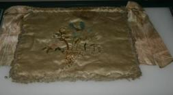 Silk drawstring bag, c.1800