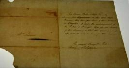 Letter written by Sarah Ponsonby, c.1800
