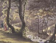 Painting of the dell at Plas Newydd, c.1835