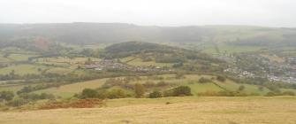 The view from the ruins of Dinas Bran Castle today