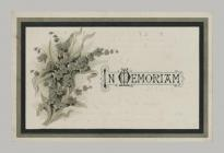 Memorial Card cover for John Morgan