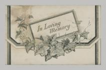 Memorial Card cover for Thomas M Thickens 1872 ...