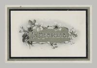 Memorial Card cover for Mary Ann Daniel