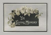 Memorial Card cover for Edgar Morgan