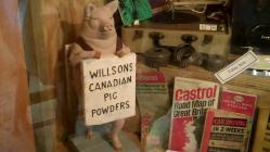 Advertising pig at Memory Lane Museum