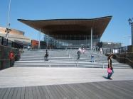 Senedd entrance steps, Cardiff, 2006