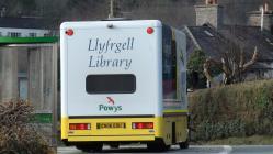 Mobile Library van at Ceinws 2012