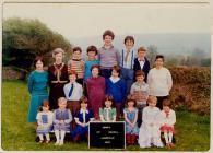 Cwmdu CP School 1981