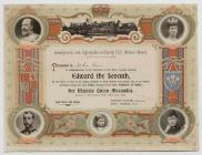 Certificate to commemorate a Coronation 1902