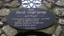 Plaque commemorating Lloyd George