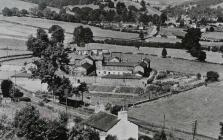 Old postcard showing the Workhouse from above