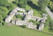 Aerial view of Llanfyllin Workhouse