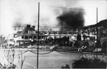 Fire at UCW College Hall, Aberystwyth,1933