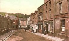 Market Street and The Wheatsheaf, Pontypool