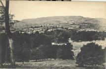Pontypool town from the park