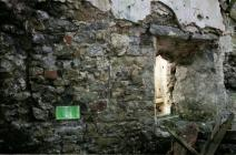 Prickeston blocked window in west wall of solar (1