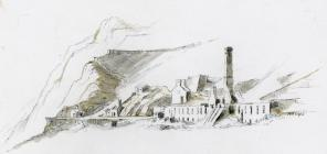 Holland's Level - mill facing Garreg Flaen...