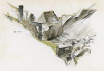 Maenofferen quarry - winding house chimney side