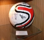 Signed match ball