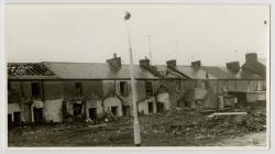 Demolition of Long Row, Llanelli, c1969