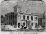 The opening of Pontypool Town Hall