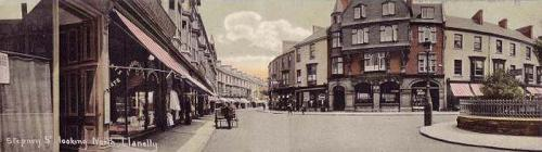 Panoramic postcard, Stepney Street, Llanelly