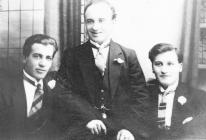 Attilio, Jack and Alf Conti of Ystradgynlais