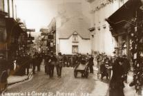 Commercial Street and The Cross, Pontypool