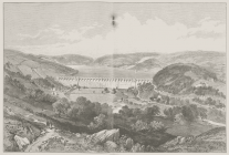 Sketch of Lake Vyrnwy dam from 'The...