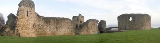 Flint Castle (south face) pano