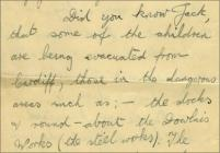 WW2 evacuation letter from Violet Patricia Cox,...