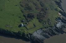Flat Holm Island, grange and gun batteries on west