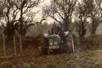 Planting potatoes, David Owen Evans, Blaenrhyderwe