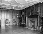 Broughton Hall, drawing room, 1956