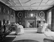 Broughton Hall, south east drawing room, 1956