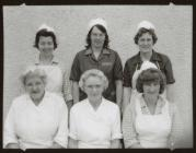 Kitchen staff Maenofferen School, Blaenau