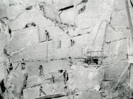 Quarrymen at work, Cefn Quarry