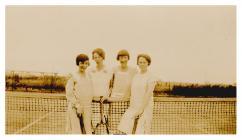 Mary Lizzie Thomas, playing tennis
