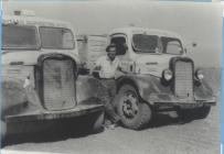 Elwyn Jones at Carreg y Llam quarry c1950